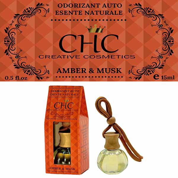 Amber & Musk car freshener, 15 ml