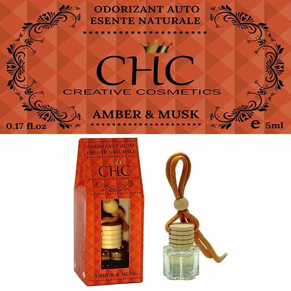 Amber & Musk car freshener, 5 ml