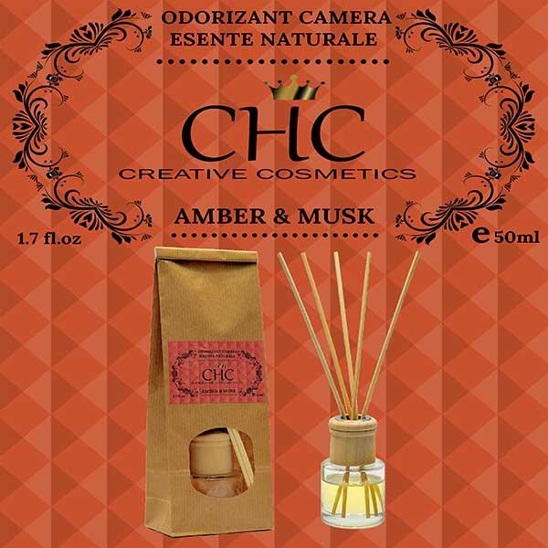 Amber & Musk Room freshener, 50 ml